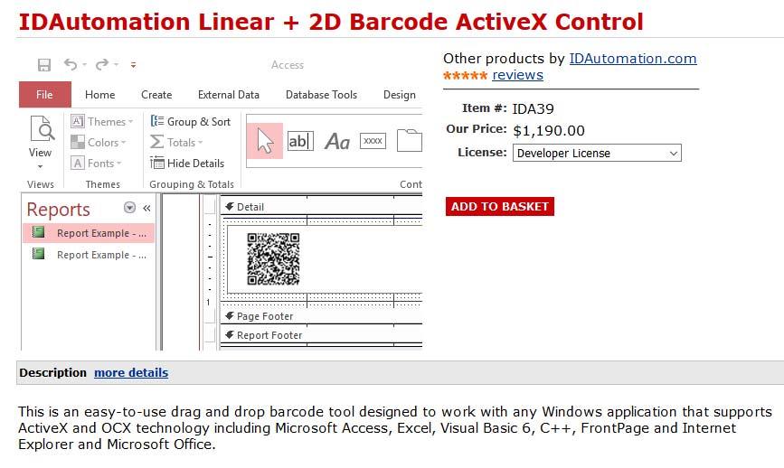 Fotografija potrebnog proizvoda na stranici prodavatelja