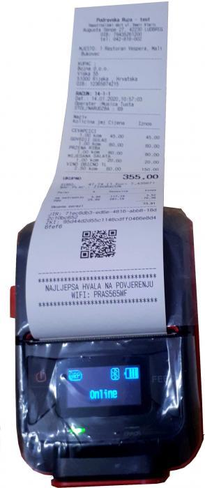 Printer - mobilni - bluetooth - programi za ugostiteljstvo Astrum