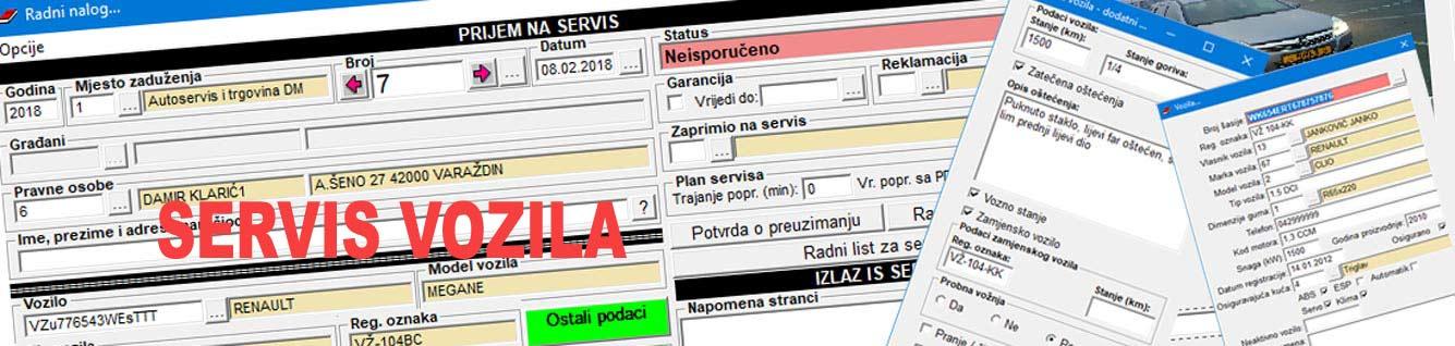 Specijalizirani program za poslovanje servisa